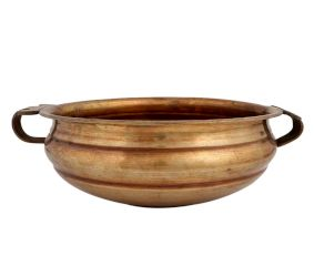 Simple Design Golden Brass Urli Bowl