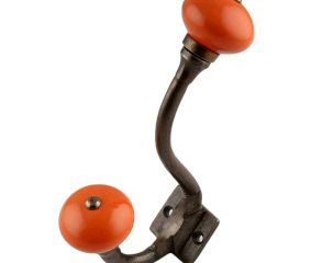 Orange Round Antique Iron Hooks