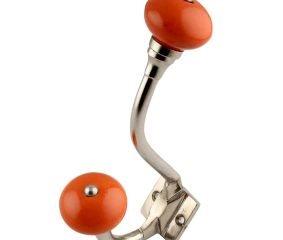 Orange Round Silver Iron Hooks