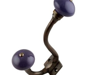 Purple Round Antique Iron Hooks
