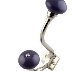 Purple Round Silver Iron Hooks