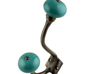 Solid Sea Green Antique Iron Hooks