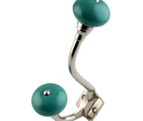 Solid Sea Green Silver Iron Hooks
