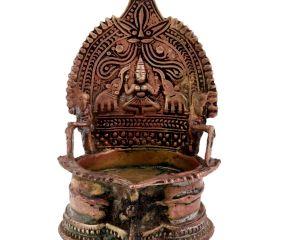 Brass Oil Lamp Gajalakshmi Vilakku Lakshmi