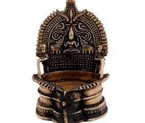 Divine Hand Made Brass Lakshmi Oil Lamp