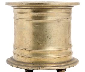 Golden Brass Holy Water Pot Or Cup With Legs