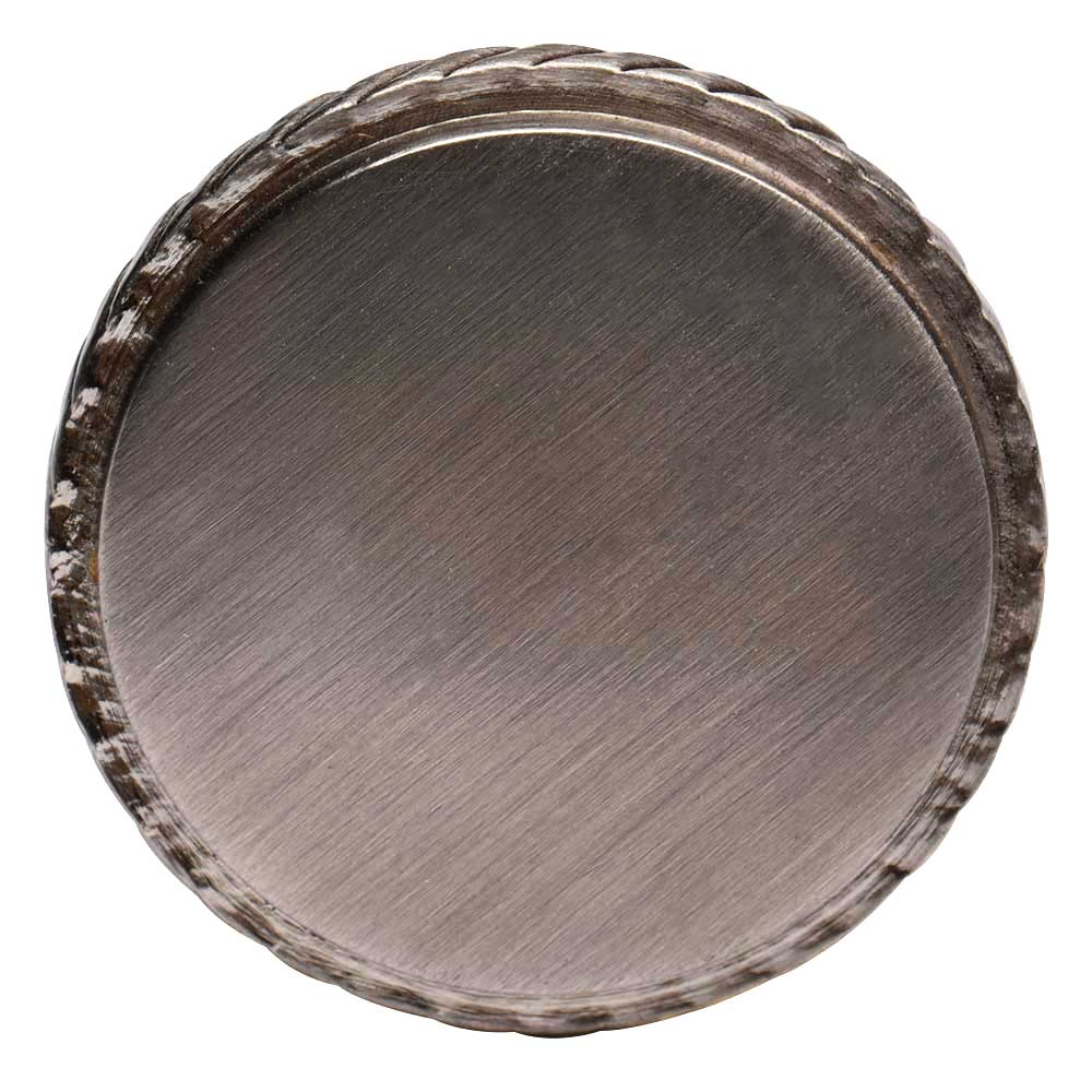 Round Brushed Silver Color Brass Cabinet Drawer Knob