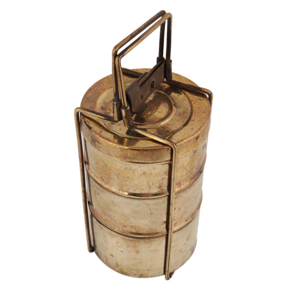 Three Brass Container For Decoration Showpiece