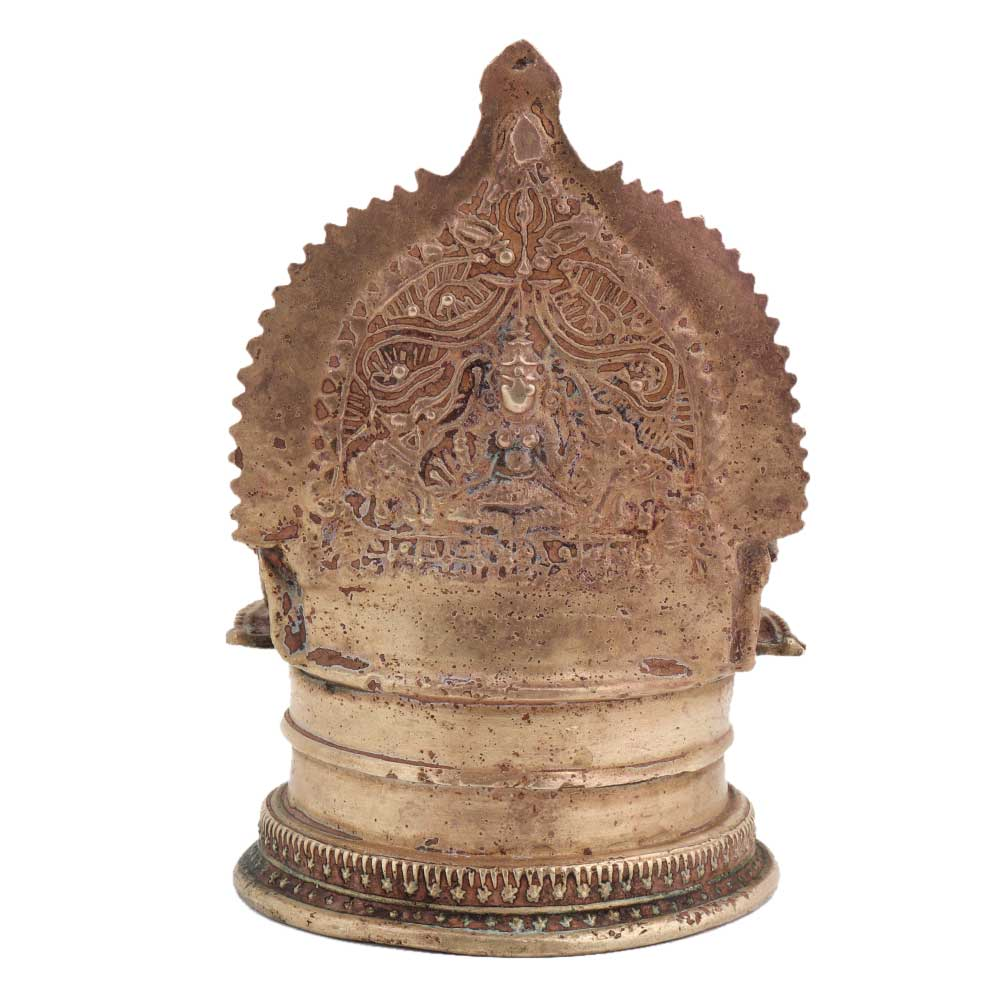 Intricately carved Brass Laxmi Lamp For Worship