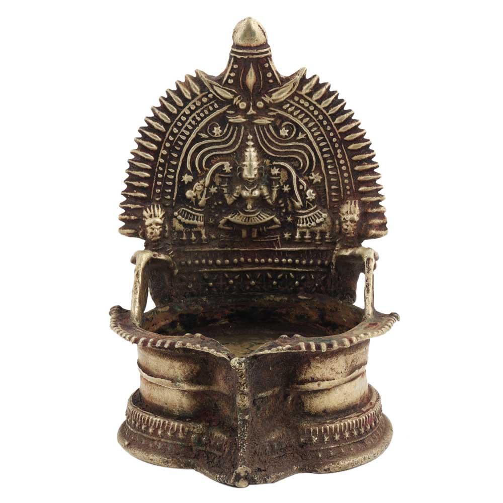 Brass Kamakshi Laxmi Oil Lamp Worship Lamp
