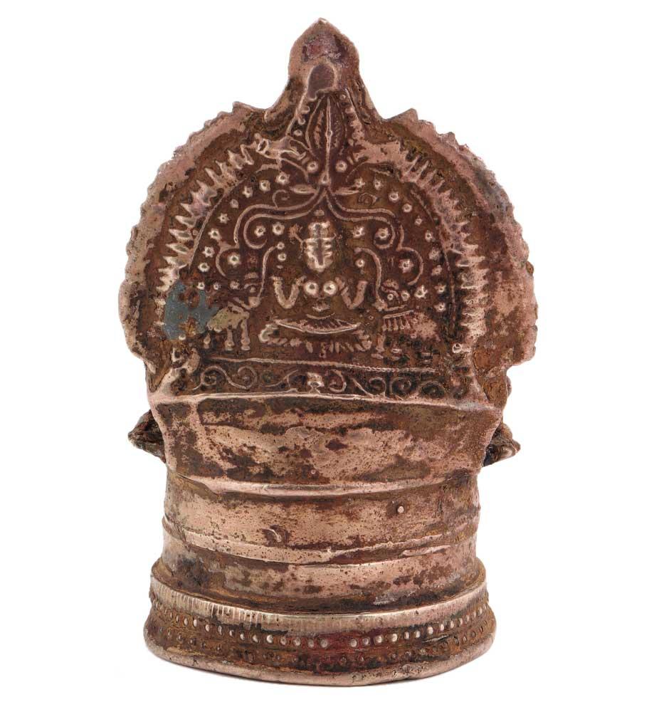 Brass South Indian GajalaxmiMotif Brass Oil Lamp