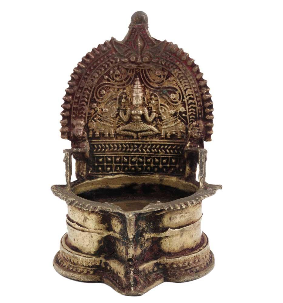 Laxmi Brass Oil Lamp Diya Table Diya