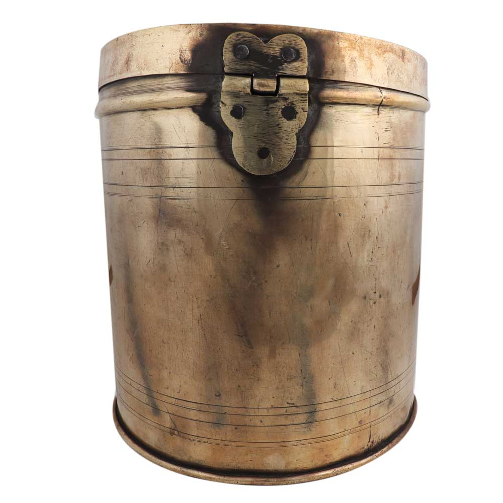 Long Cylindrical Storage Box With  Handle On Lid
