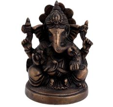 Brass Ganesha Blessing Statue For Home Decoration