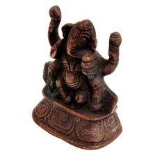 Copper Ganesha Idol For Home And Temple worship