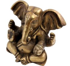 Brass Ganesha Statue Blessing Pose And Large Ears