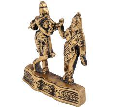 Sacred Brass Radha Krishna Standing Statue