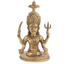 Brass Shani Dev Bust Statue For Worship