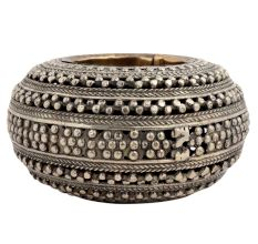 Circular Brass And Copper Ashtray Jali Design From Orissa