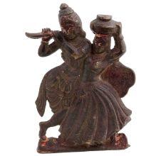 Brass Radha Krishna Idol Statue Worship Statue