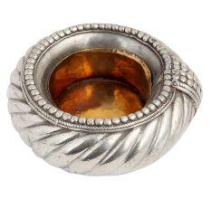 Brass Spiral Design Ashtay  With Silver Finish