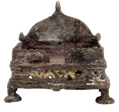 Old Used Brass Krishna Bed Temple Decoration