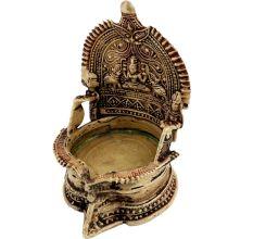 Engraved Brass Goddess Laxmi Worship