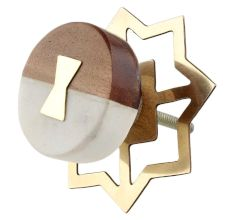 Stone And Wooden Flat Cabinet Knobs