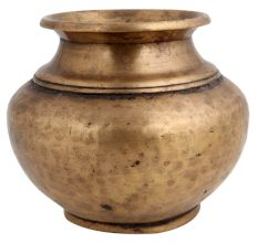 Brass water pot Hand Beaten Ritual Pot