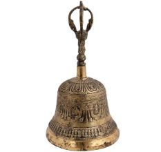 Brass Tibetan Buddhist Bell Worship Instrument