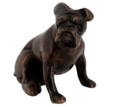 Hand crafted Brass Sitting  English Bull Dog Statue