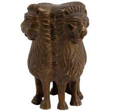 Brass Idol Ashok Stambh Pillar With Four Indian Lion Faces