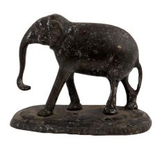 Black Brass Elephant Statue For Garden Decor