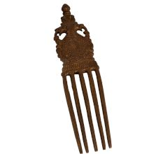 Brass Old Design Comb With Two Dragon Head Handle
