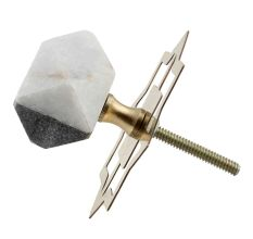 Grey And White Stone Hammer Cabinet Knobs