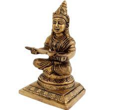 Brass Annapurna Devi Statue