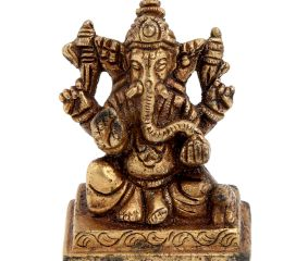 Brass Sitting Bhagvan Ganesh Idol