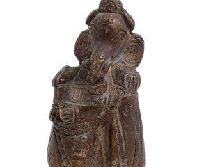 Handmade Brass Ganesha Statue On Stone