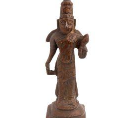 Brass Satyanarayan Vishnu Statue For Good Luck