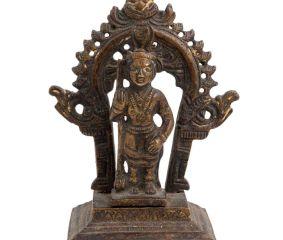 Brass Lord Vishnu And Prabhavali Worship Statue