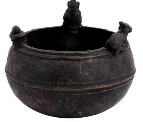 Brass Holy Water Pot With Nandi , Lingam And Ganesha