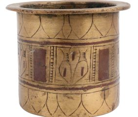Hand Carved Brass Panch Patra Water Pot