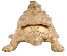 Brass Turtle Storage Box With Shri Yantra