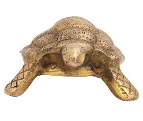 Handmade Brass Turtle Figurine Feng Shui Gift