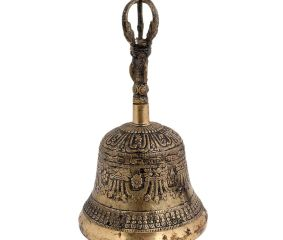 Brass Buddhist Temple Meditation Bell With Dorje