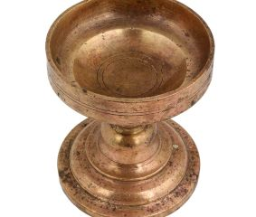 Spiritual Brass Cup Shaped Incense Burner with Handle