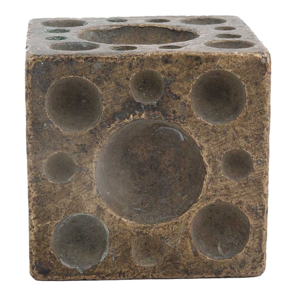 Modern Design Brass Cube Paperweight