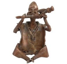 Brass Tribal Musician Playing the Trumpet