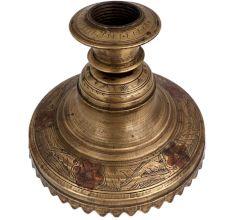 Brass Floral Engraved Hookah Base ForLuxurious Display