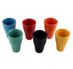 Designer Handcraft Ceramic Multicolour Tea Cup ins Set of 6